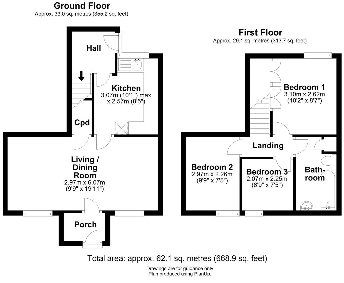 Floor plan Stanley Road, Cambridge